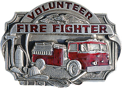 Buckle volunteer fire fighter