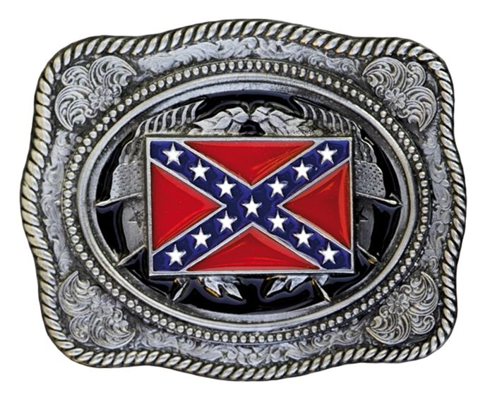 Buckle Rebel Flag